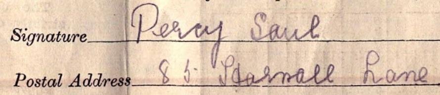 Signature Percy Saul
