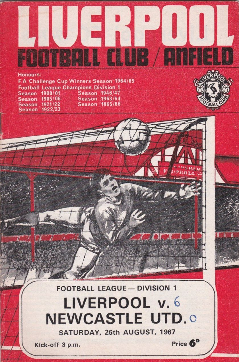 1967 LFC v Newcastle match programme