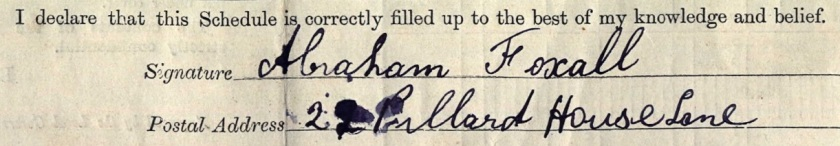 Abe Foxall signature