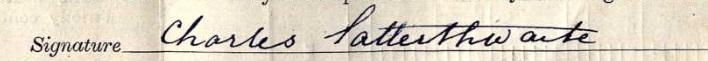 Charles Satterthwaite signature