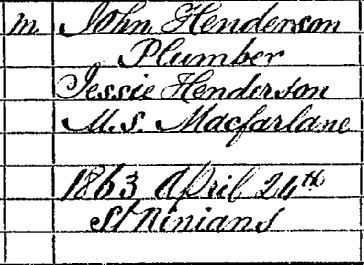 David Henderson birth certificate II