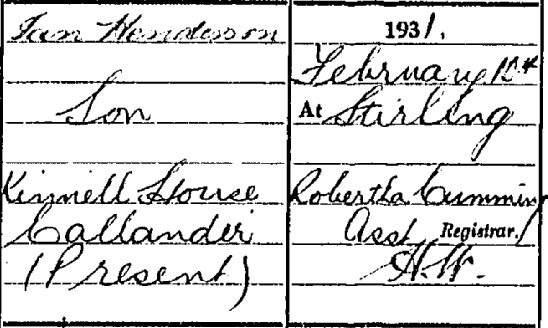 David Henderson death certificate III