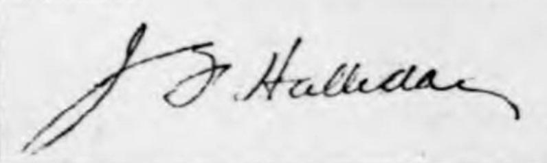 Halliday signature