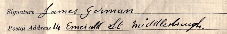 James Gorman signature