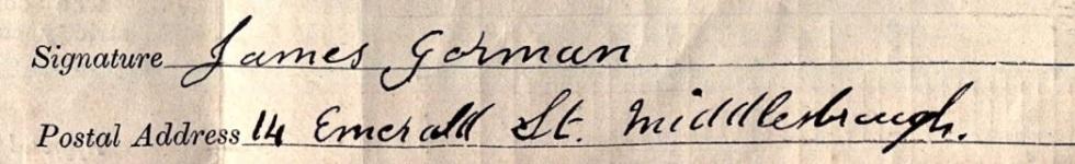 James Gorman signature
