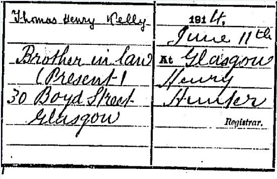 Joe McQue Death certificate part III