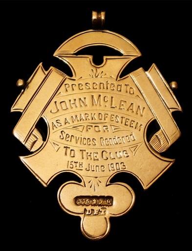John McLean medal 1903 1
