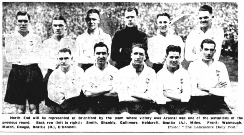 Preston North End, 1937/1938. Bil Shankly back row, number two from the left as you look at the picture.