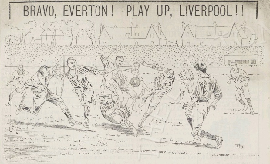 Liverpool v Everton at Anfield in April 1897