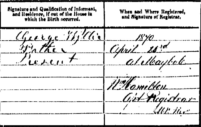 Thomas Wyllie birth certificate III