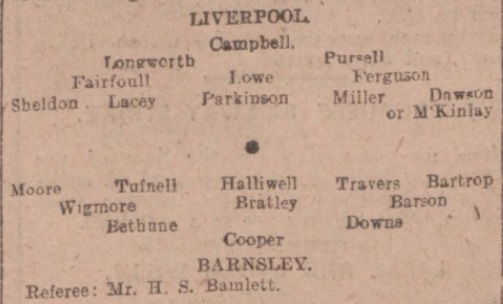 LFC Barnsley replay FA Cup 1914