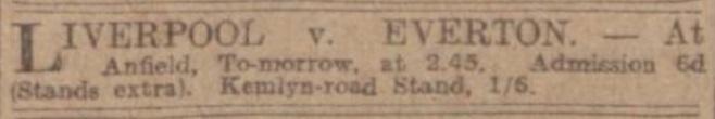 LFC Everton ad 1914