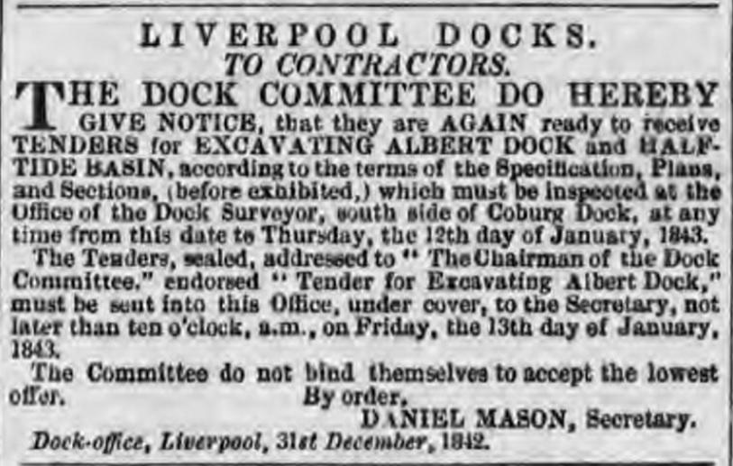Albert Docks 1843