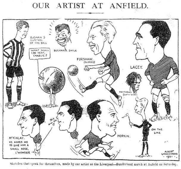 LFC Sunderland 1921 sketch