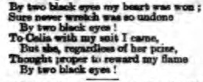 Two black eyes