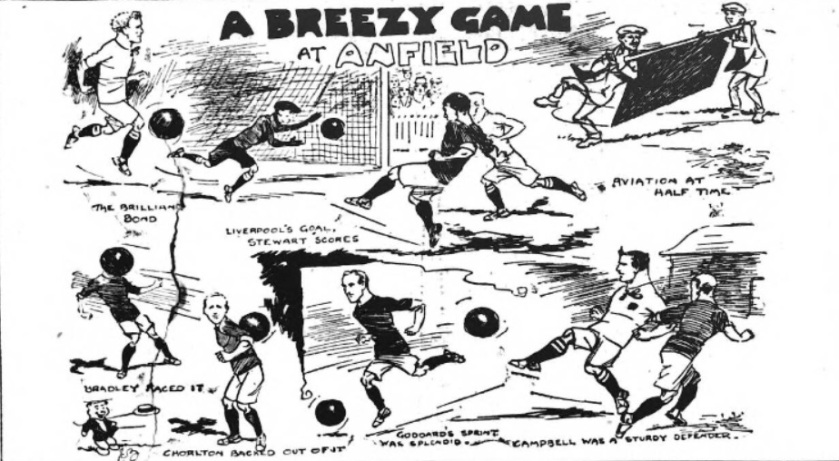 Liverpool v Bradford City at Anfield, September 3 - 1910.