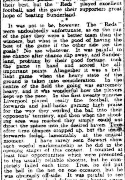Liverpool v Sunderland, Anfield, December 1910.