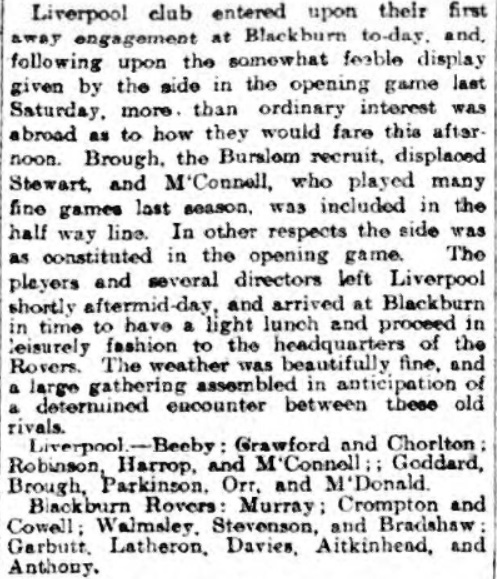 Blackburn ROvers v Liverpool, Ewood Park, 1910