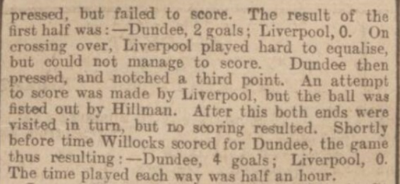 Dundee v Liverpool, 1897.