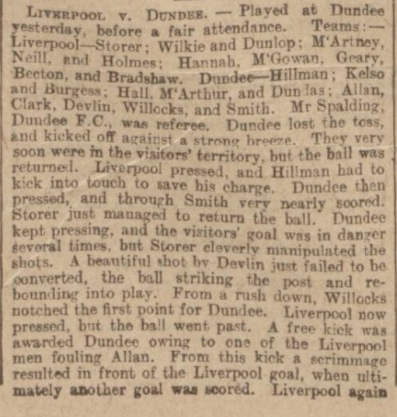 Dundee v Liverpool, 1897