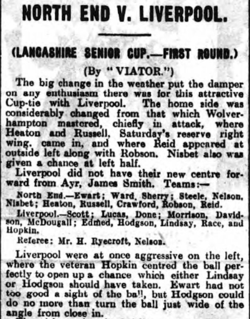 Preston North End v Liverpool, Lancashire Cup, Deepdale, 1929