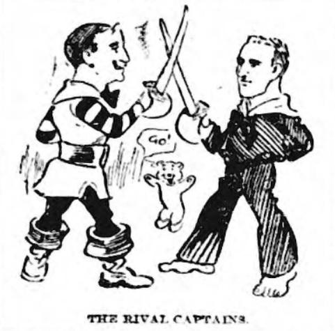 Rival captains at Ewood Park