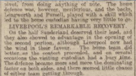 Liverpool v Sunderland, Anfield, 1915.