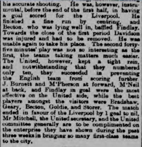 Victoria United v Liverpool, 1897