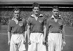 Portsmouth's James 'Jimmy' Scouler, Tim Wilfred McCoy and Jimmy Dickinson