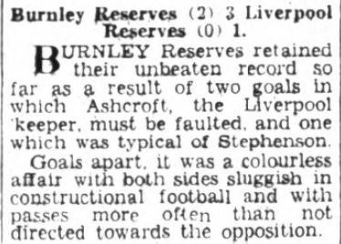 1953 Burnley Res I