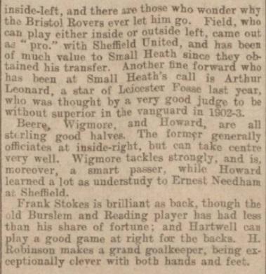1903 Small Heath 16