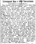 1910 LFC Res v Xaverians