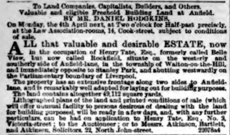 Land for sale 1870