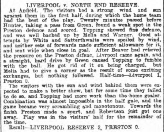 LFC Res v PNE Res Oct 1901