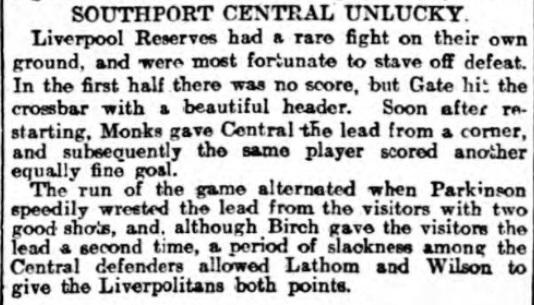 LFC Reserves v Central Nov 1906