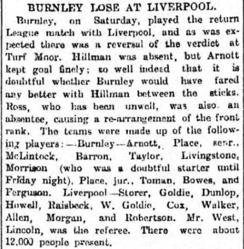 LFC v Burnley 18 Feb 1899 1
