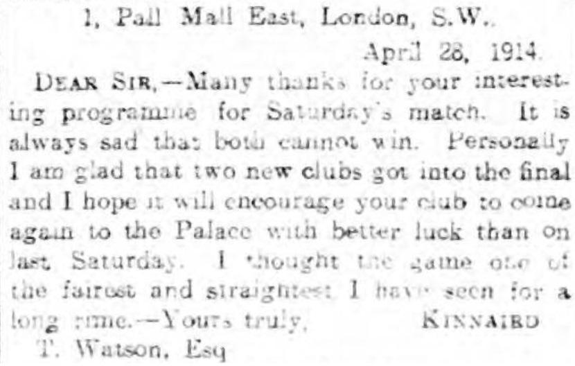 1914 letter FA