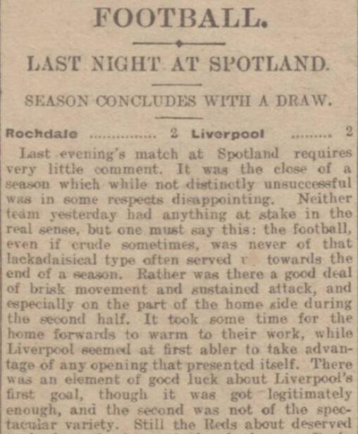 1914 Rochdale v LFC Reserves 1