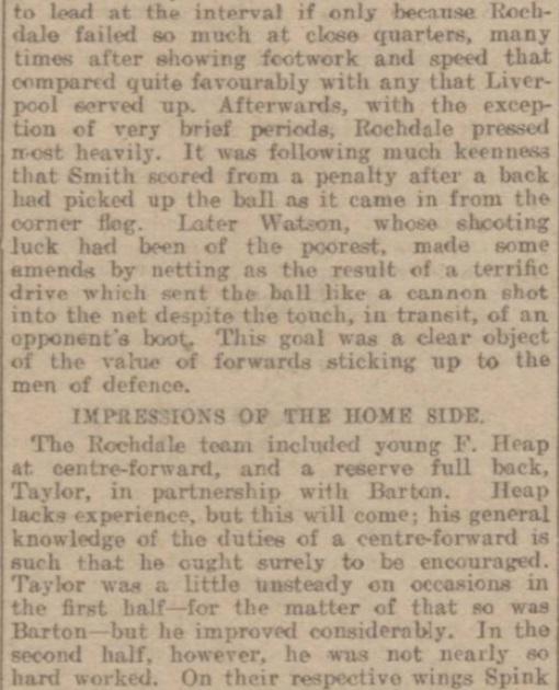 1914 Rochdale v LFC Reserves 2