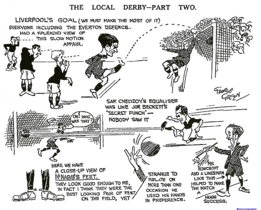 1923 LFC v Everton sketch