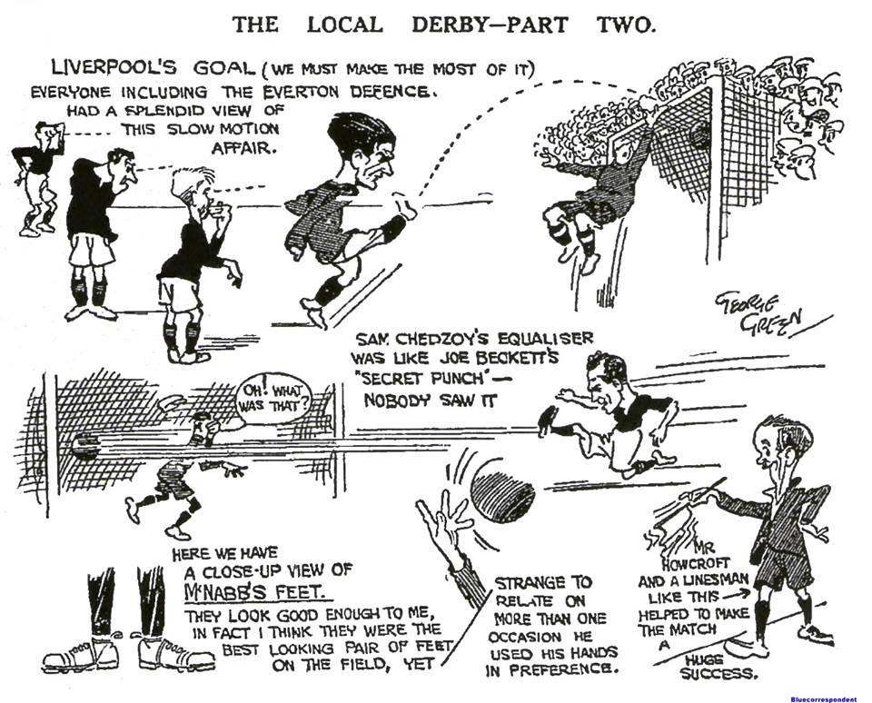 1923 LFC v Everton sketch