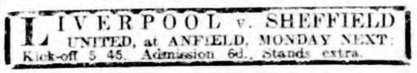 ad LFC v Sheffield United 1914