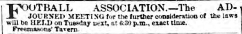 the FA ad 1863 nov 14