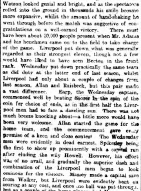 1898 LFC Wednesday 2