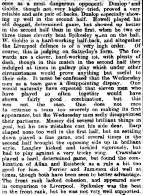 1898 LFC Wednesday 6