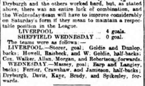 1898 LFC Wednesday 7