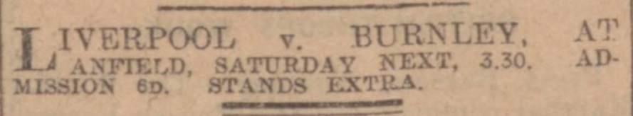 1914 LFC v Burnley ad