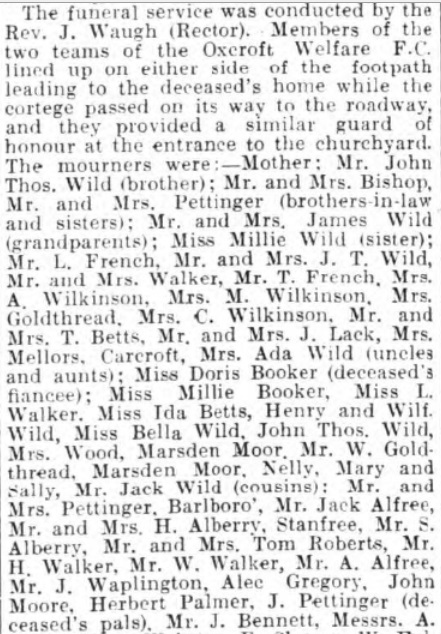 James Wild funeral 1