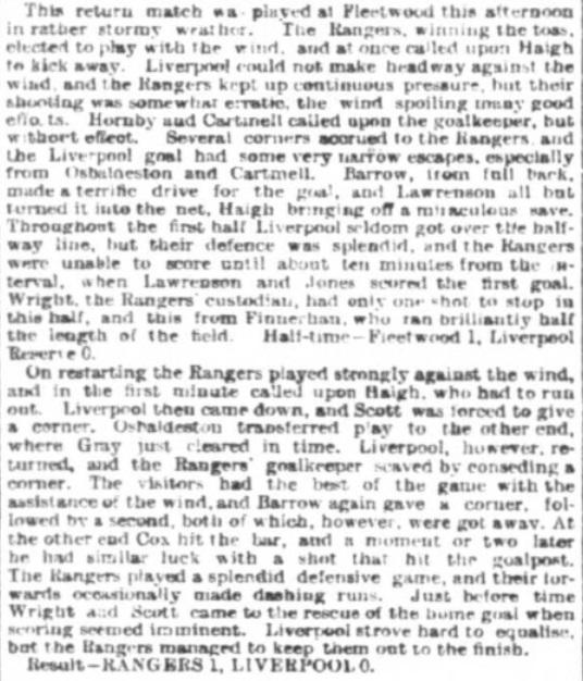 1898 Fleetwood Rangers v LFC REs