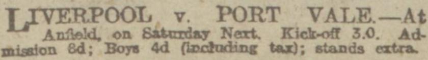1918 ad lfc v port vale